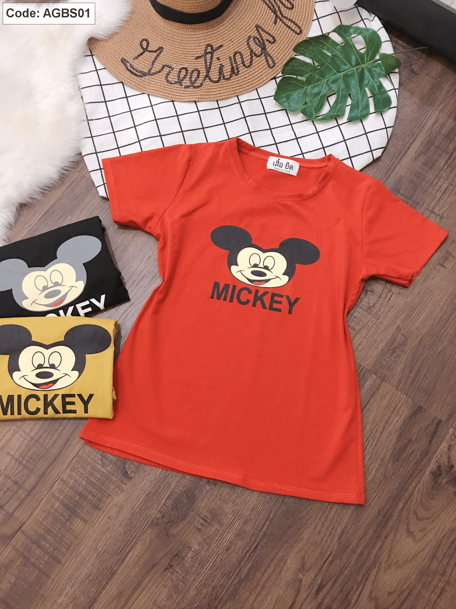 Áo thun nữ in hình Mickey Big size 60kg